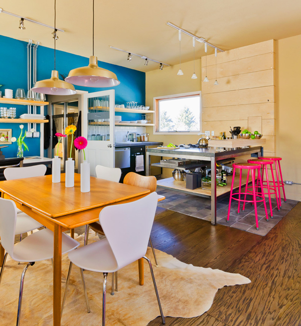 Colorful Kitchens With Charisma: Casas: Moderna, Industrial Y Con Mucho Color