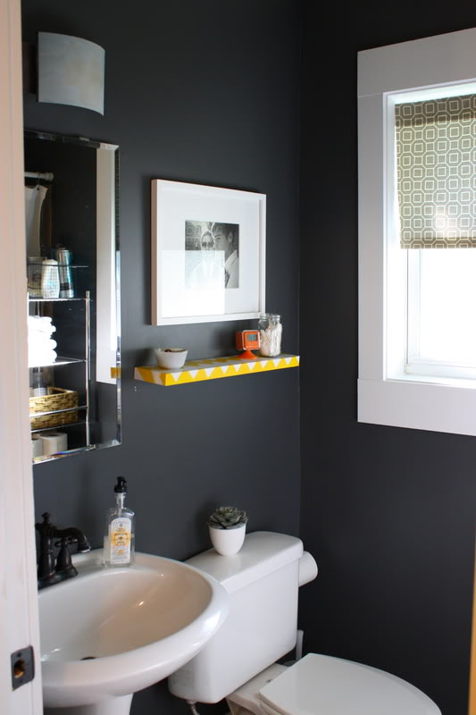 Muebles De Baño Orion:Gray Half Bathroom Decorating Ideas