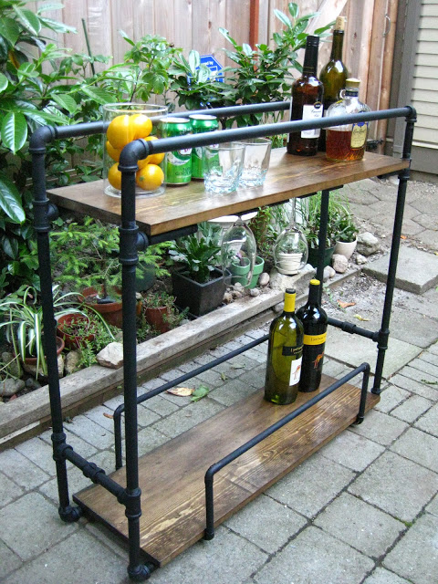 Bar industrial de tubería / Pipe bar cart / Casa Haus