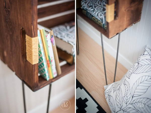 DIY crate side table / Mesa con caja de madera / Casa Haus