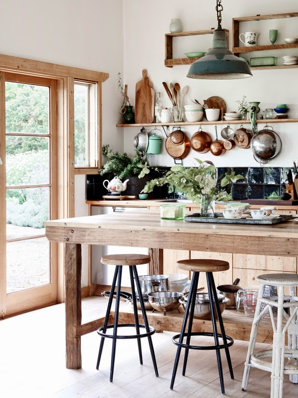 country kitchen in australia cocina country vintage en australia casa haus via