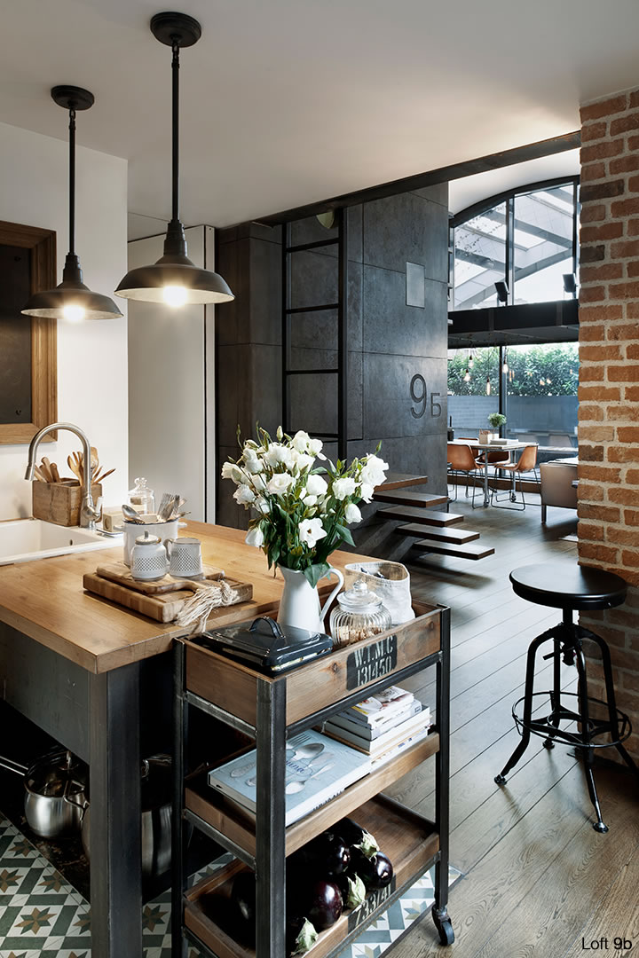 Incre ble loft estilo vintage industrial casa haus for Ideas deco estilo