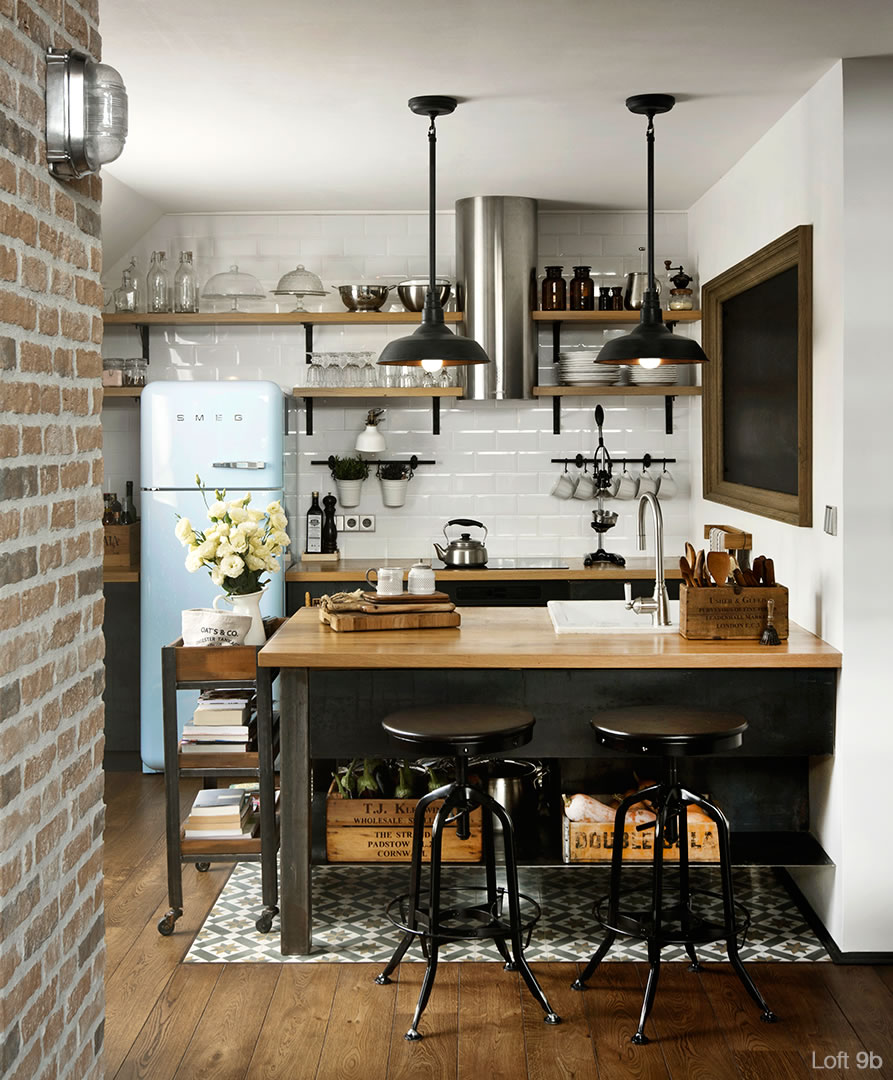 Incre ble loft estilo vintage industrial casa haus for Decoracion industrial vintage