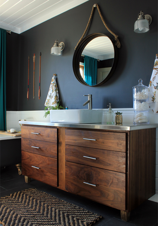 Decor Trend: Round mirrors in bathrooms // Tendencias: espejos redondos en baños // Casa Haus