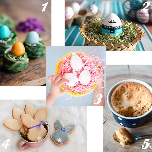 5 Easter crafts and yummy recipes for Easter // 5 ideas y recetas maravillosas para Pascua // casahaus.net