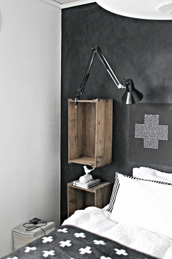 Black nordic bedroom, lots of diy ideas! / Dormitorio negro y blanco estilo nórdico con mucho diy! / casahaus.net