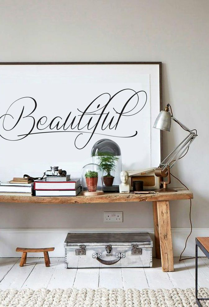 Beautiful calligraphy poster // Póster caligráfico // Casa Haus